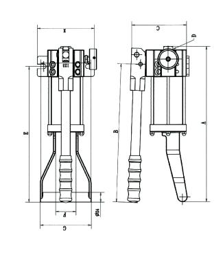 工业级液压便携式救援与抢险专用手动泵