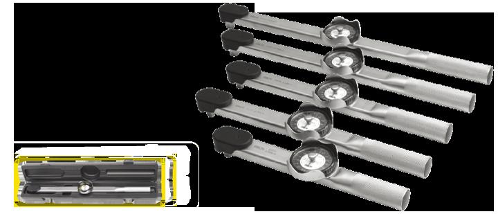 扭力扳手本体为全金属结构