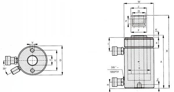 双作用中空式液压千斤顶-HDAC系列